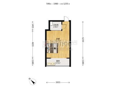 华林逸墅,精选小户型,景观楼层,适合小夫妻过度或投资,可已租养贷