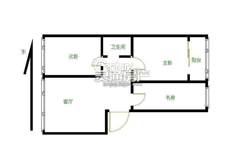 北郊 翰林湖畔 步梯四楼 两室 家具家电齐全 看房方便 业主急租